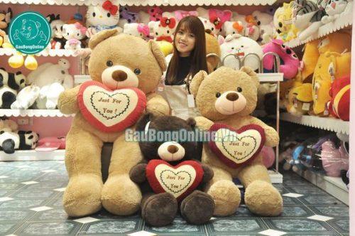 teddy ôm tim giá rẻ