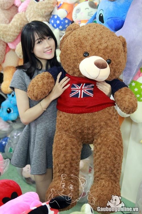 Gấu bông lông xoắn 1