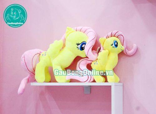 Ngựa bông Pony vàng tươi