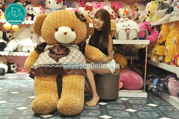 teddy váy nâu khổng lồ