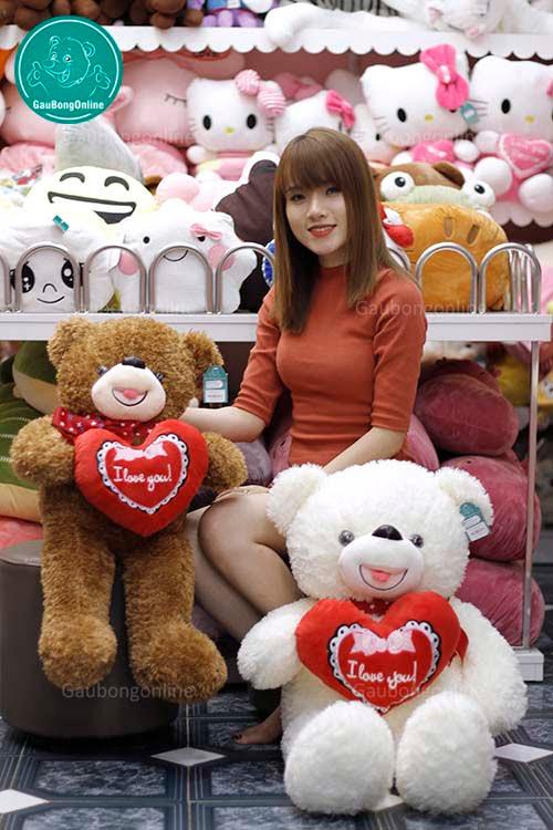 Teddy Xù Ôm Tim 1m1 80cm