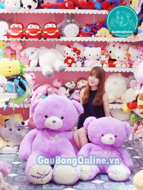 gấu teddy màu tím