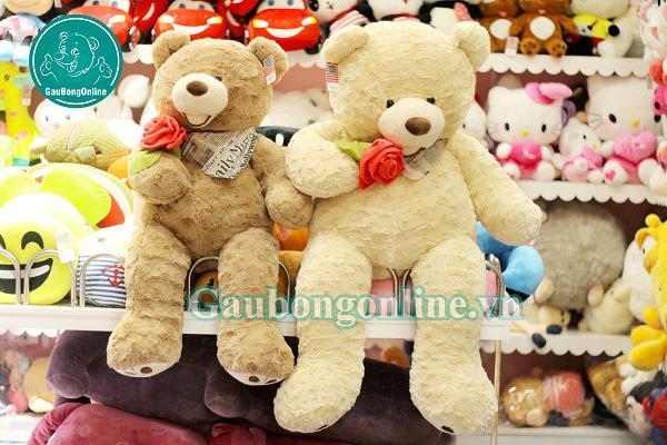 Gấu Teddy 1m2 ôm hoa