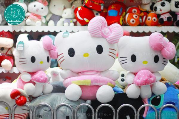 Mèo Kitty Nơ hồng cực yêu có 3 size cho bạn lựa chọn