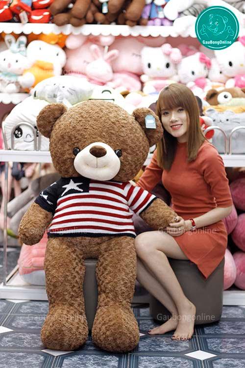 Gấu Áo Len Sao 1m4