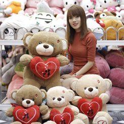 Teddy Ôm Tim Đỏ