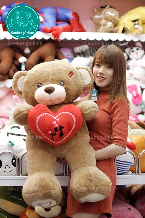 Teddy Ôm Tim Đỏ 1m1