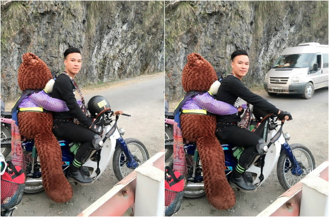 Chân dung chàng trai mang gấu đi phượt