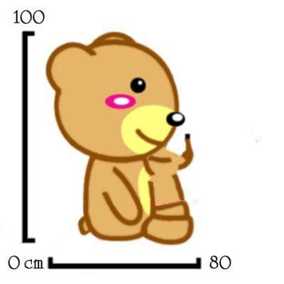 Đo theo góc vuông là cách đo được áp dụng nhiều khi xác định kích thước gấu bông