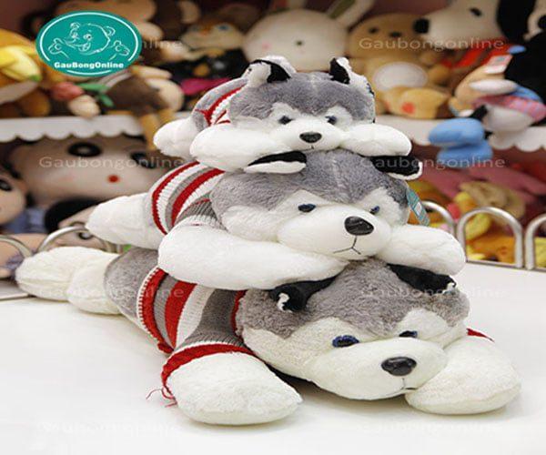 Chó bông Husky phiên bản thú bông