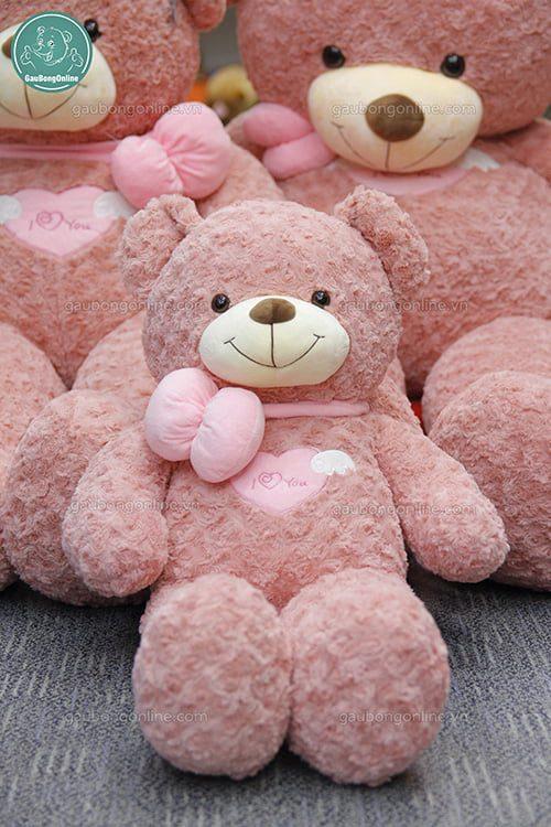 Teddy Angle Hồng 80cm