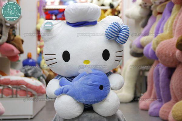 Gấu bông Hello kitty ôm cá