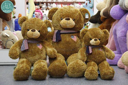 Teddy tim cờ mỹ