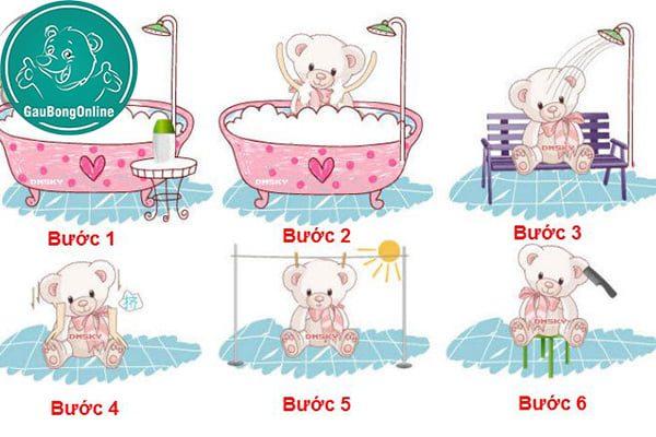 6 Bước Giặt Gấu Bông Tại Nhà
