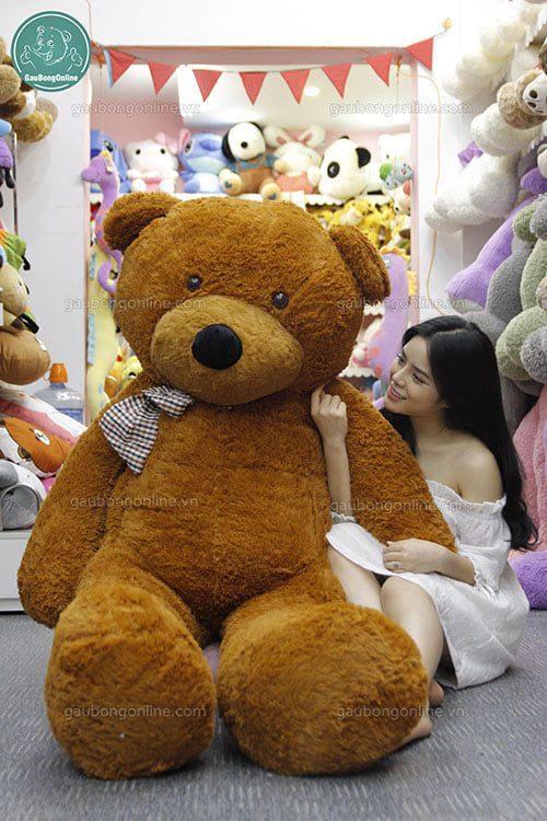 Teddy nâu nơ kẻ