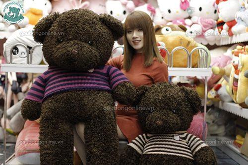 Gấu Bông Teddy Đen Xù 1m5