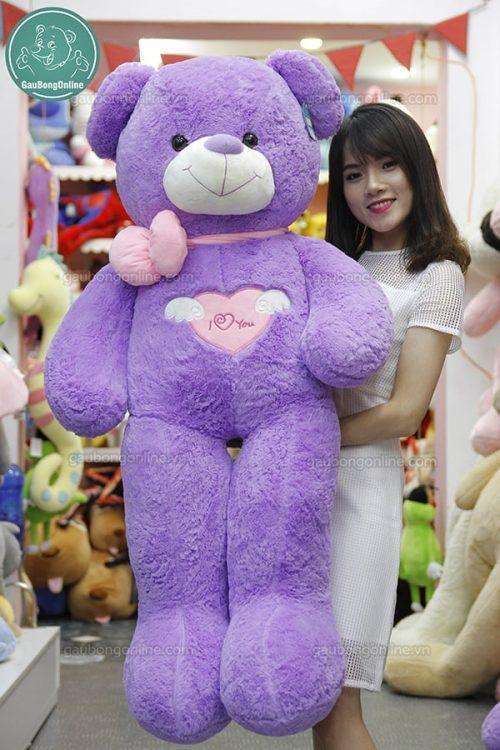 Gấu Bông Teddy Angel Tím