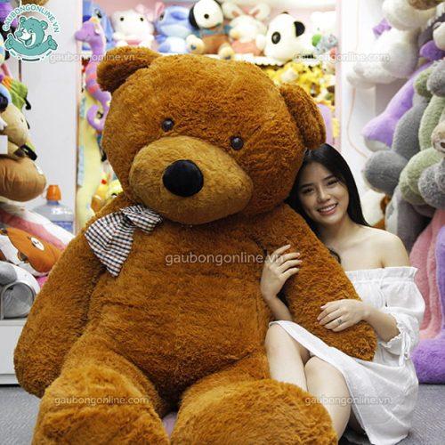 Gấu Bông Teddy Nâu Nhập 2m