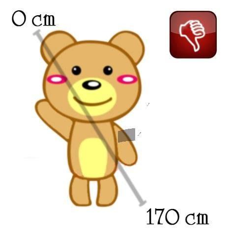 Cách đo gấu nhồi bông theo đường chéo
