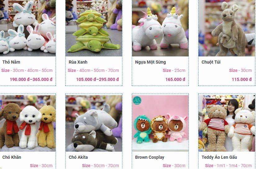 Những mẫu gấu bông giá rẻ dưới 200 000 đồng