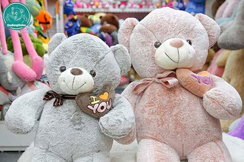 Gấu Bông Teddy Ôm Tim Lệch