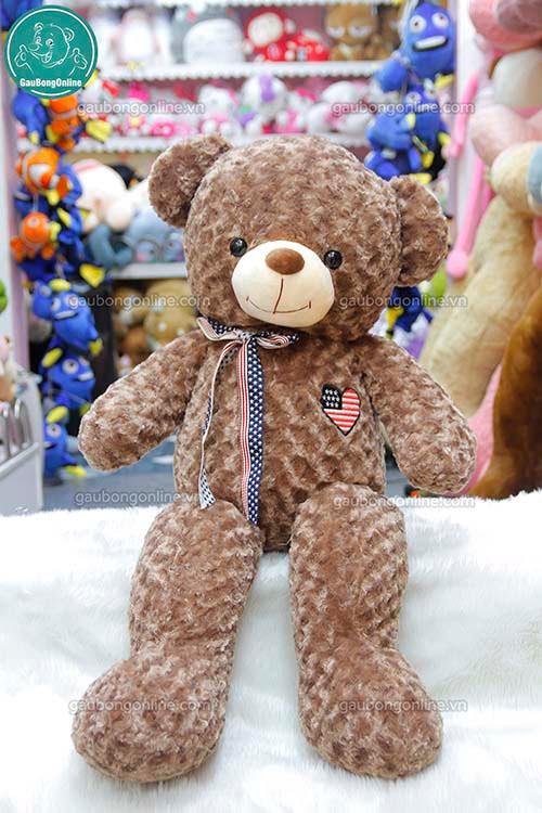 Gấu Bông Teddy Tim Cơ Mỹ