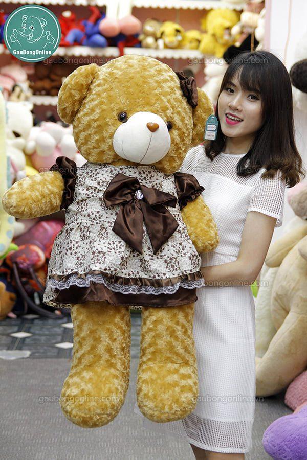 Gấu Bông Teddy Váy Nâu