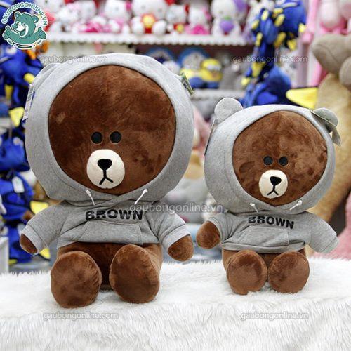 Brown Bông Áo Nỉ