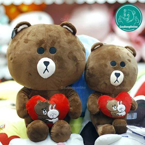 Gấu Browm ôm tim siêu đáng yêu