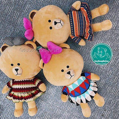 Gấu bông Brown thổ cẩm nhiều màu sắc