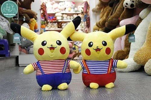 Gấu bông Pikachu áo