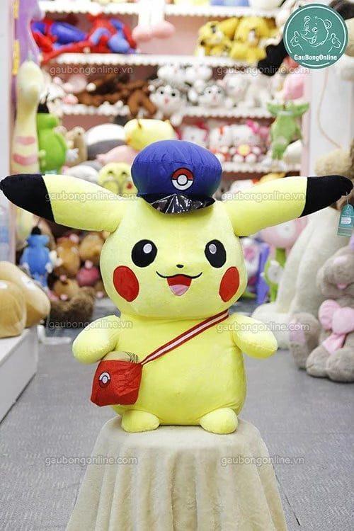Gấu bông Pikachu mũ