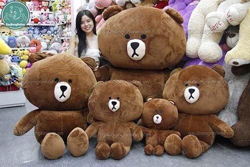 Gấu Brown tại gaubongonline.vn với nhiều đủ kích thước