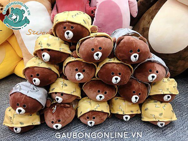 Brown Áo Mũ Nằm Bông