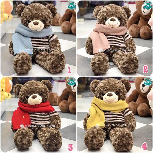 Gấu Teddy & Khăn Len HQ Đỏ