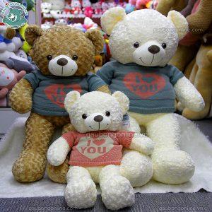 Gấu Bông Teddy Xoắn Áo Love