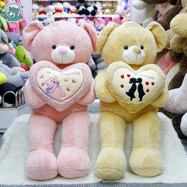Gấu Bông Teddy Ôm Tim Gấu