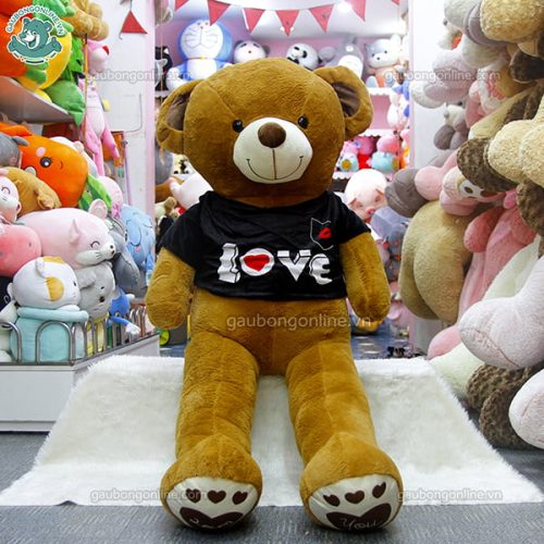 Gấu Bông Teddy Chân Love Áo Love