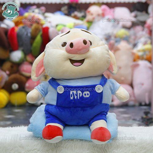 Gối Chăn Mềm Lợn Bông Tik Tok