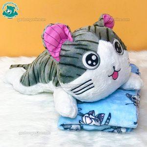 Gối Chăn Bông Mèo Chii