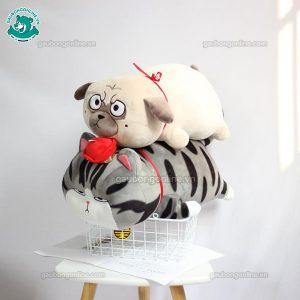 Gối Chăn Mền Chó Nô Tài Bông