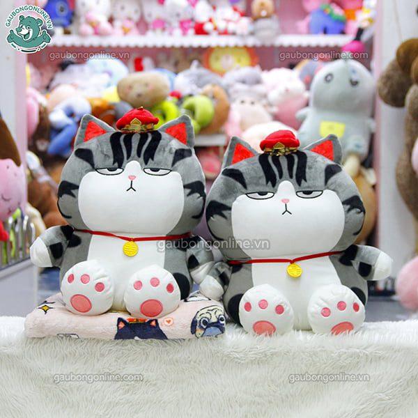 Gối Chăn Mền Mèo Hoàng Thường Ngồi