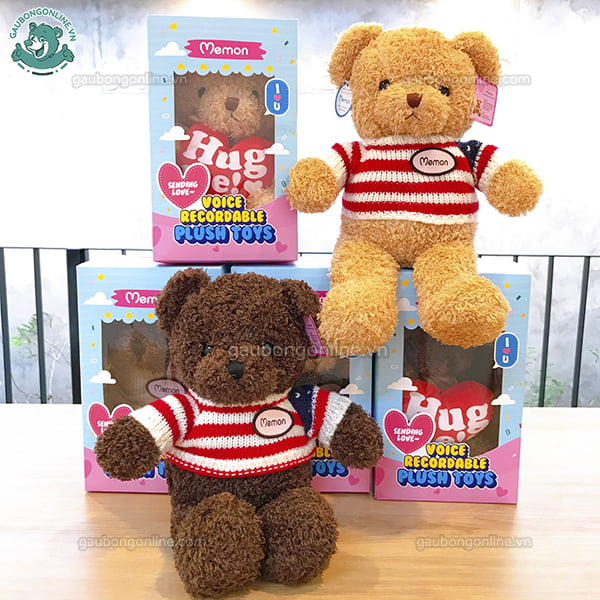 Gấu Bông Ghi Âm Len Cờ Mỹ