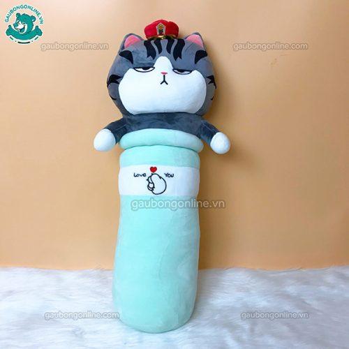 Gối Dài Mèo Hoàng Thượng Bông