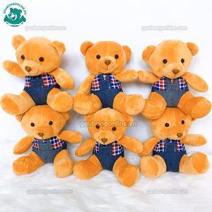 Gấu Bông Teddy Yếm Kẻ