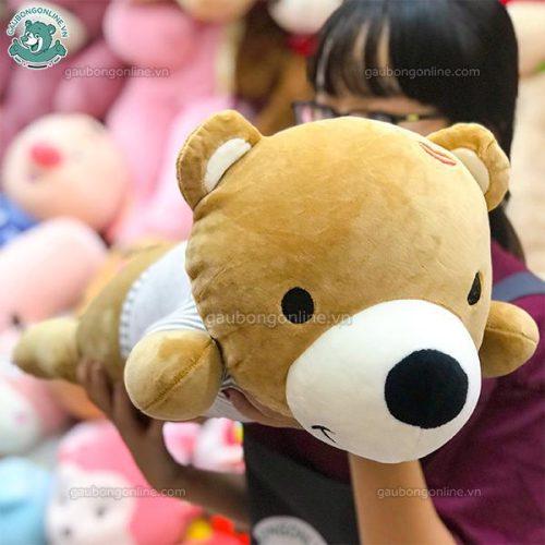 Gấu Bông Nằm Áo Kẻ