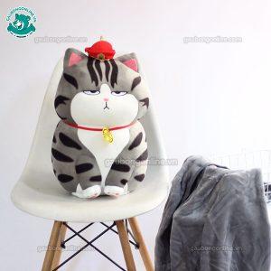 Gối Chăn Mền Mèo Hoàng Thường Gầy