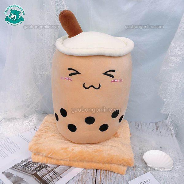 Gối Chăn Mền Trà Sữa Bông