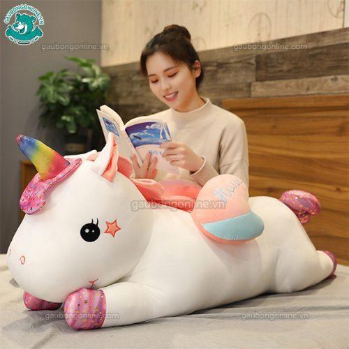 Ngựa Bông Unicorn Thiên Thần