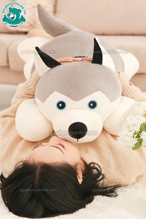 Chó Bông Husky Khăn(Big Size)